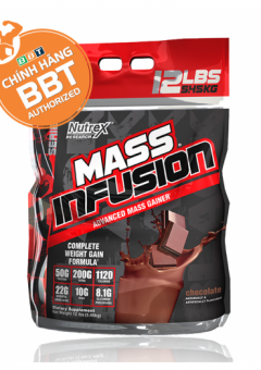Nutrex Mass Infusion (vị Chocolate) tăng cân tăng cơ