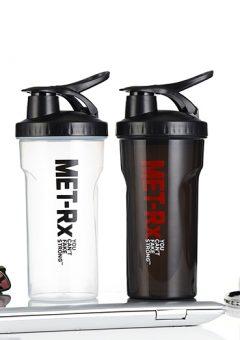 Bình lắc (shaker) Met-RX trong suốt & đen
