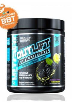 Outlift Concentrate (vị Blackberry Lemonade) pre-workout uống trước tập tăng năng lượng